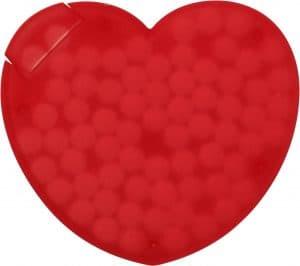 reklámcukorka szív alakú dobozban